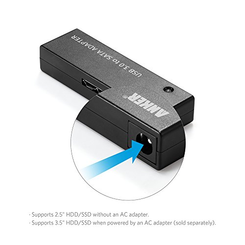 Anker USB 3.0 to SATA Portable Adapter, Supports UASP SATA I II III for 2.5 inch HDD and SSD