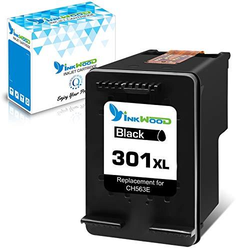 Inkwood 301 XL Rigenerate Cartuccia d'inchiostro per HP 301 301 XL Nero Colore per HP Envy 4500 5530 4507 DeskJet 2510 1050 1510 1010 2050 2540 1050A 2050A 2543 1000 OfficeJet 2620 4630 4636(1Nero)