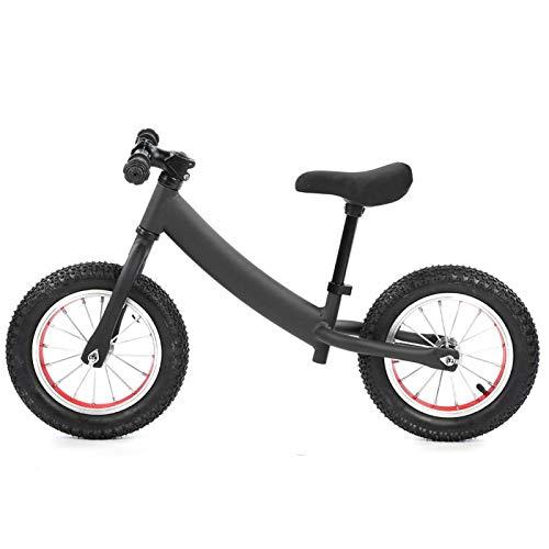 T-Day Bicicleta para niños, aleación de Aluminio, sin Pedal, Dos Ruedas, Bicicleta Deslizante para niños, Bicicleta para Caminar y Aprendizaje equilibrada para niños(Negro)