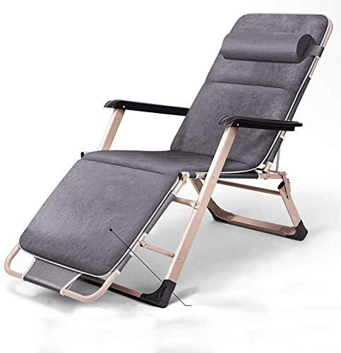 OESFL Al Aire Libre de Descanso de Cero Gravedad Silla reclinable Ajustable con la Almohadilla for el Aire Libre Patio