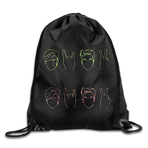 Sporttaschen Turnbeutel, Drawstring Bags Bulk, Dolan&Twins Logo Men & Women Drawstring Backpack