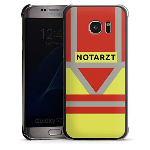 DeinDesign Hard Case kompatibel mit Samsung Galaxy S7 Edge Schutzhülle schwarz Smartphone Backcover Beruf Notarzt Uniform