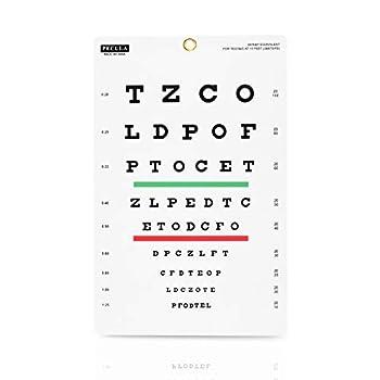 Eye Chart Snellen Eye Chart Wall Chart Snellen Charts for Eye Exams 10 feet 9 X 14 in.
