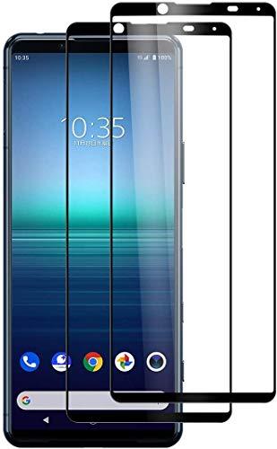 Foluu Bildschirmschutzfolie für Sony Xperia 5 II 2020, gehärtetes Glas, volle Klebkraft & Abdeckung, blasenfrei, kratzfest, HD-Optik, transparent, hohe Berührempfindlichkeit