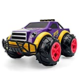 JIANGLL Coche de Control Remoto de camioneta Pickup de Dibujos Animados púrpura a Escala 1/14 Camión RC de neumáticos de Goma Resistentes al Desgaste por vacío RC Buggy
