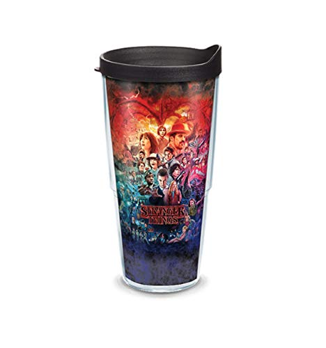 Tervis Stranger Things Montage Tumbler Wrap with Travel Lid, Multicolor (24 oz)