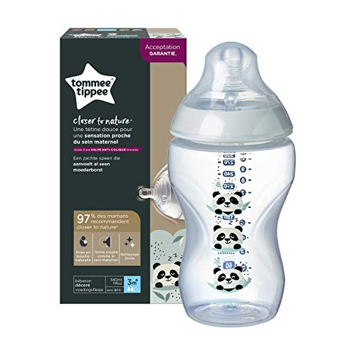 Tommee Tippee Biberón Closer to Nature, 340 ml, 1 Unidad, Colores Surtidos