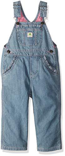 John Deere Girls' Little Overall, Washed Denim, 6X