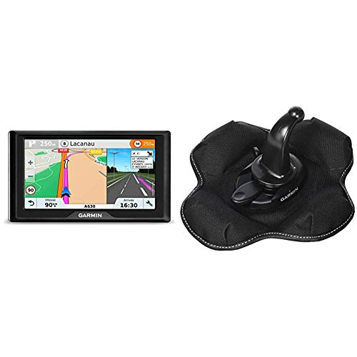 Garmin 010-01679-12 Drive 61 LMT-S EU Navigationsgerät - lebenslang Kartenupdates & Verkehrsinfos, Sicherheitspaket, 6 Zoll (15,2cm) & KFZ Halterung (tragbare Haftungshalterung)