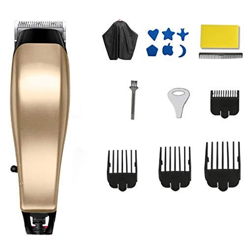 Tondeuse à cheveux WGZ Tondeuse électrique Rechargeable Tondeuse électrique Ménage Tondeuse électrique Tondeuse Professionnelle Cheveux Artifact Pratique (Color : Gold)