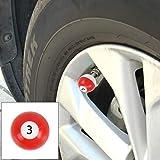 Tuzi Qoge 4 Stück Universal-Kugelhahn Cap Tankdeckel Mundstück-Abdeckung Tankdeckel Reifen Kappen-Auto-Motor-Fahrrad-Reifen Ventilkappen QiuGe (Color : Color1)