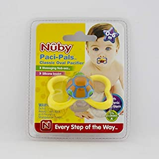 Nuby Paci-Pals Pacifier Oval 0-6 month, Yellow_1015807
