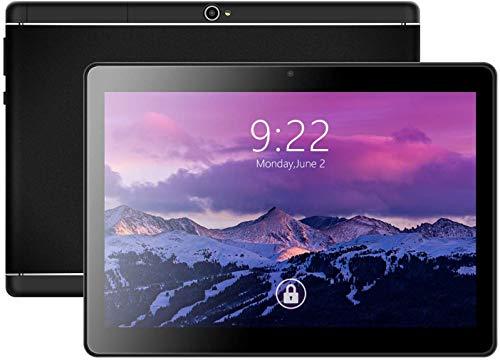ODLICNO Tablet 10 Pulgadas Android Go 7.0 Certificado por Google, Llamada telefónica 3G y Tableta WiFi 5G con Tarjeta Dual Sim, 1GB RAM + 16GB ROM, procesador Quad-Core, Bluetooth, GPS (Negro)