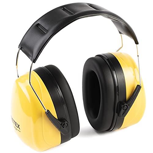 PRETEX - Protectores Auditivos para Niveles de Sonido SNR 31 dB - Orejeras de Protección Auditiva - Auriculares Profesionales Contra Ruido - Cascos de Oído Antiruido - Diadema de Tamaño Universal 🔥