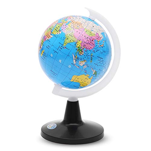 CROSYO 1 stück Kleine Globus der Welt mit Stand Geographie Karte Pädagogisches Spielzeug für Kinderkugel mit Etiketten von Kontinenten, Ländern, Kapitellen