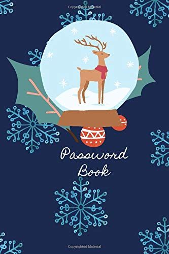 Password Book Christmas Reindeer: Christmas Internet Password Journal with alphabetical tabs,To Protect Usernames and Passwords Login and Private ... - (Size 6x9 in) - White Paper - Matte Cover