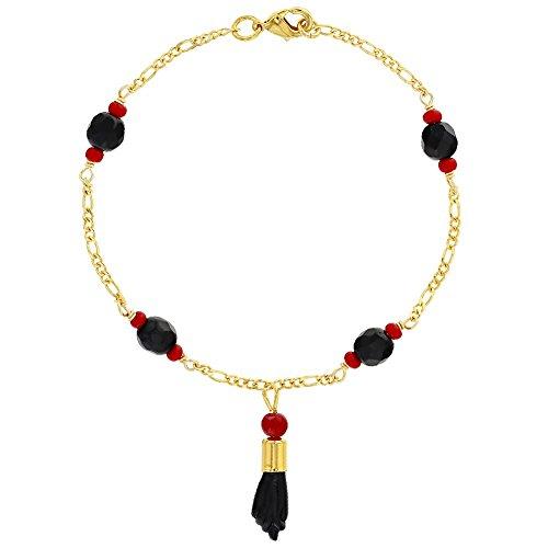 In Season Jewelry Plated Figa Hand Simulated Azabache Mal de Ojo...
