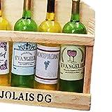 blueship Casa de muñecas botella de vino resina nórdica gabinete refrigerador imán portátil decorativo B