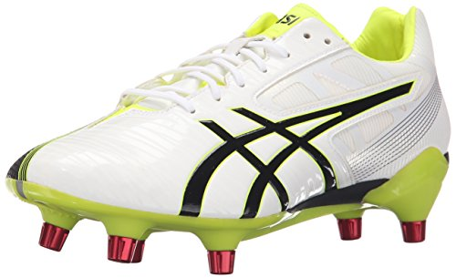 ASICS Men's GEL-Lethal Speed White/Black/Flash Yellow Rugby Shoe - 7 D(M) US
