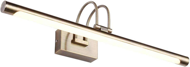 TopDeng LED Spiegel-leuchte Wandlampe, Badezimmer Spiegellicht, Modern Einfache Schminklicht Eisen Acryl Wasserdicht Wandbeleuchtung-Warmwei 62cm-14W