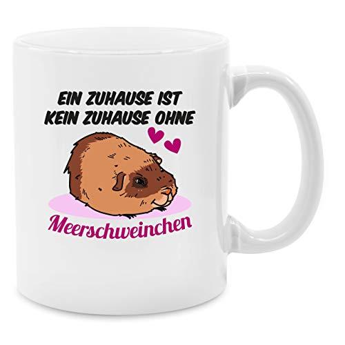 Statement Tasse - Ein Zuhause ist kein Zuhause ohne Meerschweinchen - Unisize - Weiß - meerschweinchen tasse - Q9061 - Kaffee-Tasse inkl. Geschenk-Verpackung
