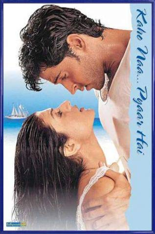 1art1 Bollywood Poster und Kunststoff-Rahmen - Kaho Naa. Pyaar Hai (91 x 61cm)