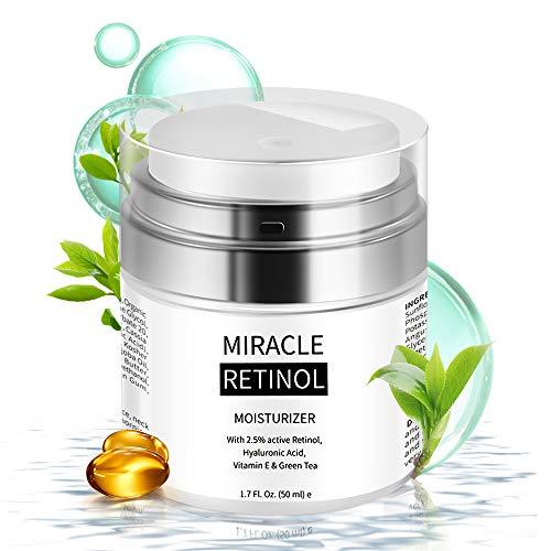 Retinol Cream - Face Moisturizer for Anti Aging, Wrinkle & Acne Face Cream with Hyaluronic Acid, Vitamin E, Aloe Vera & Jojoba Oil Night Cream for All Men/Women'S Face, Eye, Neck & Body