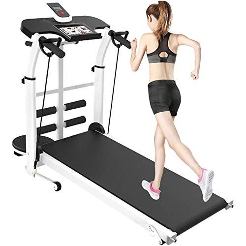 TETHYSUN Cinta de correr pequeña, plegable, multifunción, silenciosa, pérdida de peso, equipo de ejercicio físico, ideal para oficinas en casa