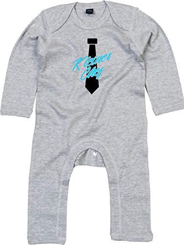 Kleckerliese Combinaison pour bébé avec motif petit chef - Gris - 6-12 mois
