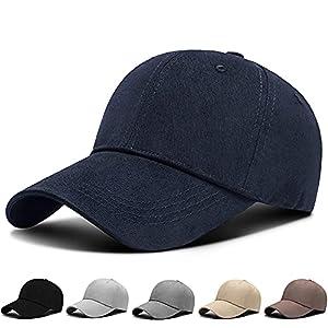 キャップ メンズ 無地帽子 夏 コットン100% UVカット・紫外線対策・通気性 帽子・軽量・日よけ・速乾・軽薄・調節可能・シンプル・おしゃれ・野球帽・ランニング・男女兼用 (#02.ネイビー)