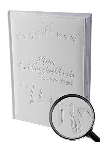 Rezeptbuch zum selberschreiben A4 für 100 Rezepte mit Kunstleder Einband und Register (eingeschweißt) by von Rafenstein, Kochbuch selbst schreiben, Kochbuch zum selberschreiben, meine liebsten Rezepte