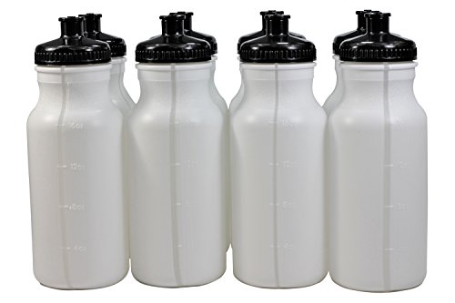 Sports Squeeze Plastic Water Bottles Push/Pull Cap 20 Ounce Bpa-Free...