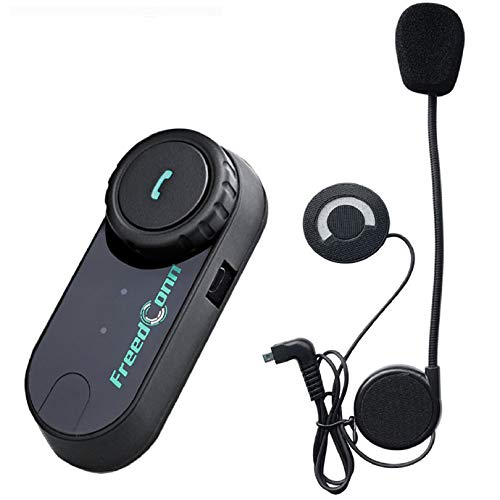 FreedConn Motorrad Gegensprechanlage Headsets Motorradhelm Intercom T-COM VB Motorradhelm Interphone Gegensprechanlage Kommunikationssysteme 2-3 Rider Intercom Kit Mit 800M, GPS, FM Radio