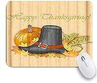 HASENCIV ゲーミング マウスパッド,感謝祭のトウモロコシブラックハットモダン,マウスパッド レーザー&光学マウス対応 マウスパッド おしゃれ ゲームおよびオフィス用 滑り止め 防水 PC ラップトップ