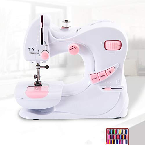 AIOEJP Kleine naaimachine, elektrische overlock-naaimachine, multifunctionele mini-tafelnaaimachine met selvage-functie
