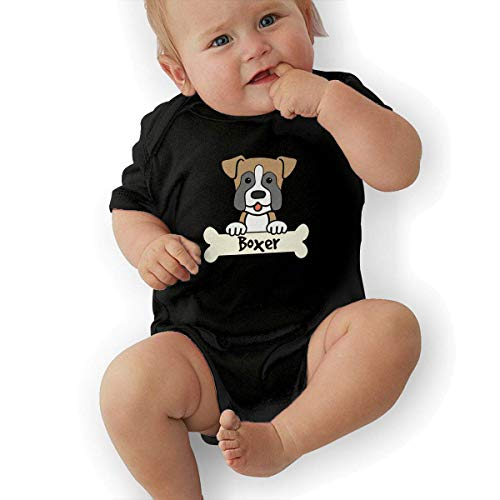SDGSS Babybekleidung Bodysuits Boxer Dog Baby Boys Girls Short Sleeve Bodysuits Rompers Outfits 0-48 Months