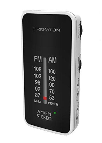 Brigmton BT-224 Portátil Analógica Negro, Color blanco - Radio (Portátil, Analógica, AM,FM, 87 - 108 MHz, 522 - 1620 kHz, 50 dB)