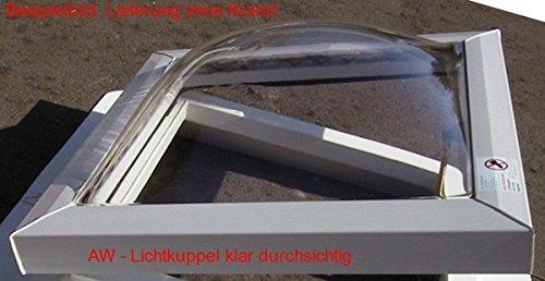 Lichtkuppel 600x900 klar durchsichtig doppelschalig Dämmung 3,1 W/m²K,