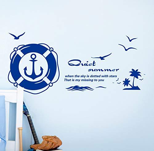 Strand rettungsring wandaufkleber PVC material DIY palm tree vogel wandtattoo wohnzimmer schlafzimmer dekoration 50x70cm