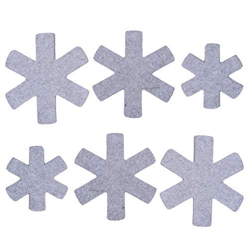 Yardwe Salvamanteles no tejidos, con almohadillas calientes, resistente al calor, multifunción, herramienta de cocina para alfombrillas, manteles individuales y posavasos para bebidas, 12 unidades