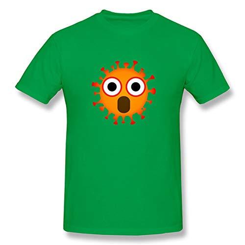 TRonin Negarse COVID-19 Coronavirus Adulto Unisex Camiseta de Manga Corta Camiseta (Color : Green, Size : XS)