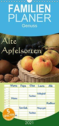 Alte Apfelsorten - Familienplaner hoch (Wandkalender 2021, 21 cm x 45 cm, hoch)