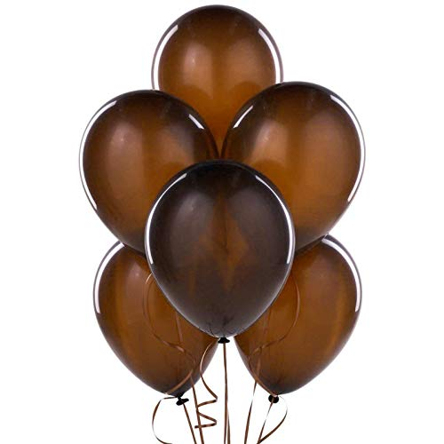 Shatchi 11152-BALLOONS-marrone scuro-BROWN-025-PZ Palloncini Decorazioni Marrone Cioccolato Compleanno Anniverasry Favours Party Fillers Goody Bag
