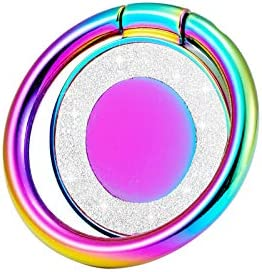 lenoup Glitter Bling Bling Phone Ring Holder,Sparkle Phone Ring Kickstand, Cell Phone Finger Ring Grip for Almost All Phones,Pad(Blue)