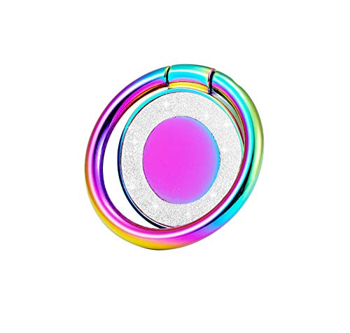 lenoup - Soporte para anillo de teléfono con purpurina brillante, multicolor