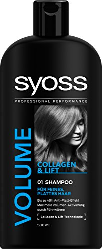 Syoss Volume Collageen en Lift Technology Shampoo, 6-pack (6 x 500 ml)