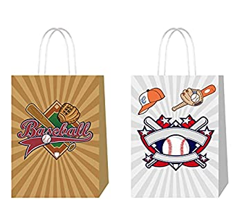 QICI Baseball Goodie Candy Treat Bags Baseball Party Gift Bags Baseball Party Favors Game Celebration Supplies Sports Decorations
