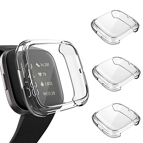 3 Pack Screen Protector Compatible Fitbit Versa 2 Case, GHIJKL Ultra-Thin...