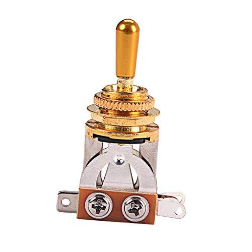 dailymall Selector de Pastilla de Interruptor de Palanca de 3 Vías de Guitarra Eléctrica de Aleación Duradera DIY - Dorado, como se describe