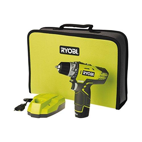 Ryobi 5133001800 R12DD-L13S, 12 W, 12 V, Schwarz, Gelb